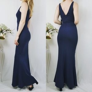f3313bf2739e5 Lulu s Dresses - Melora Navy Blue Sleeveless Maxi Lulu s Dress NWT
